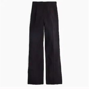 NWT J. Crew Wide leg pleated pant in matte crepe